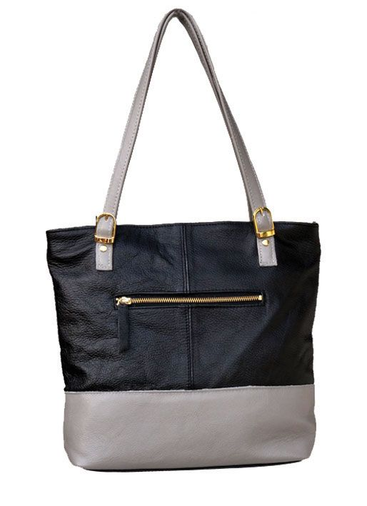 Lifestyle Black and Grey Genuine Leather Shopper Bag. R 1'189. Handcrafted in Cape Town, South Africa. Code: Lorna black/grey See online shopping for availability. Shop online https://www.thewhatnotshoes.co.za Free delivery within South Africa.