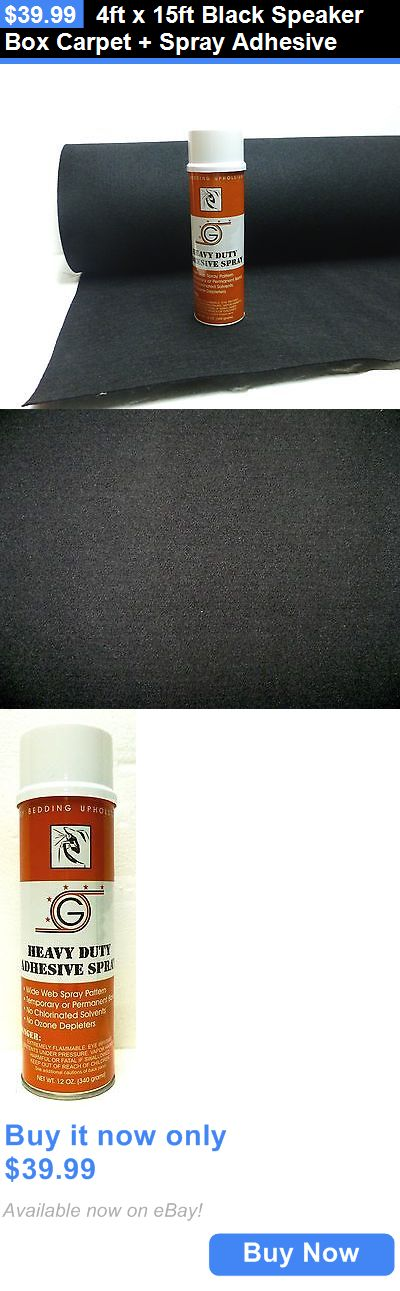 Speaker Sub Grills and Accs: 4Ft X 15Ft Black Speaker Box Carpet + Spray Adhesive BUY IT NOW ONLY: $39.99