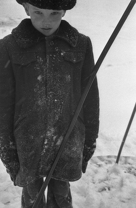 Boy on the carousel. Novokuznetsk. 1981. Photo by Vladimir Vorobiev