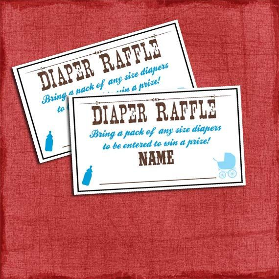 I want everyone to bring a pack of diapers with them!!  Printable Western Baby Q Shower Diaper Raffle by PuzzlePrints, $5.00