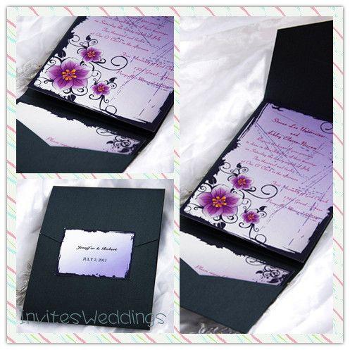 19 best Pocket Wedding Invitations images on Pinterest Pocket