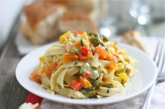 Summer Pasta Primavera 2 by laurenslatest, via Flickr... This looks soooo good! Makes me want to buy a homemade pasta maker!