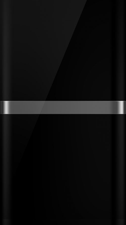 The Dark S7 Edge Wallpaper 08 with Black Background and Silver Line