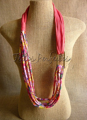 Beautiful fabric necklaces