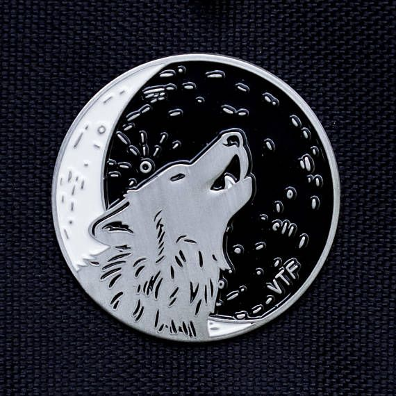HOWL AT ANY MOON enamel pin, by Vector That Fox