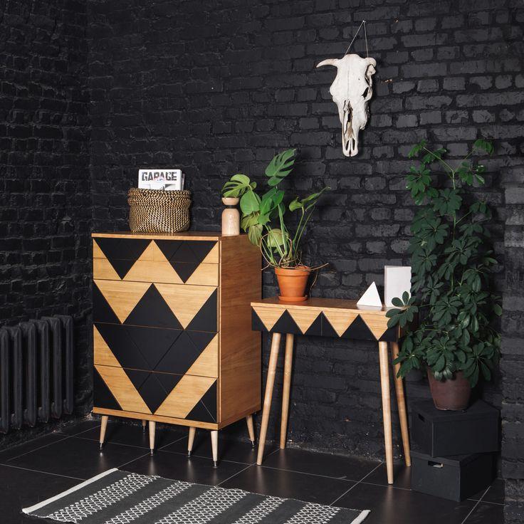 Консоль Woo Desk и комод Big Woo #midcentury #midcenturymodern #консоль  #мидсенчури #комод