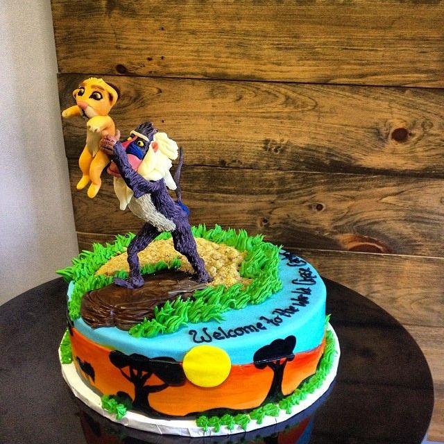 Groovy Lion King Cake Lionking Simba Disney Lion Bakery Baking Funny Birthday Cards Online Alyptdamsfinfo