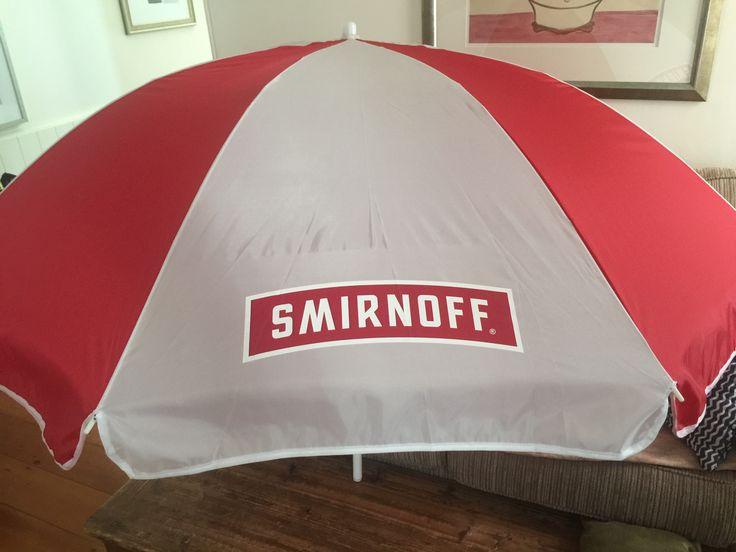 Locally branded umbrella with digital transfer