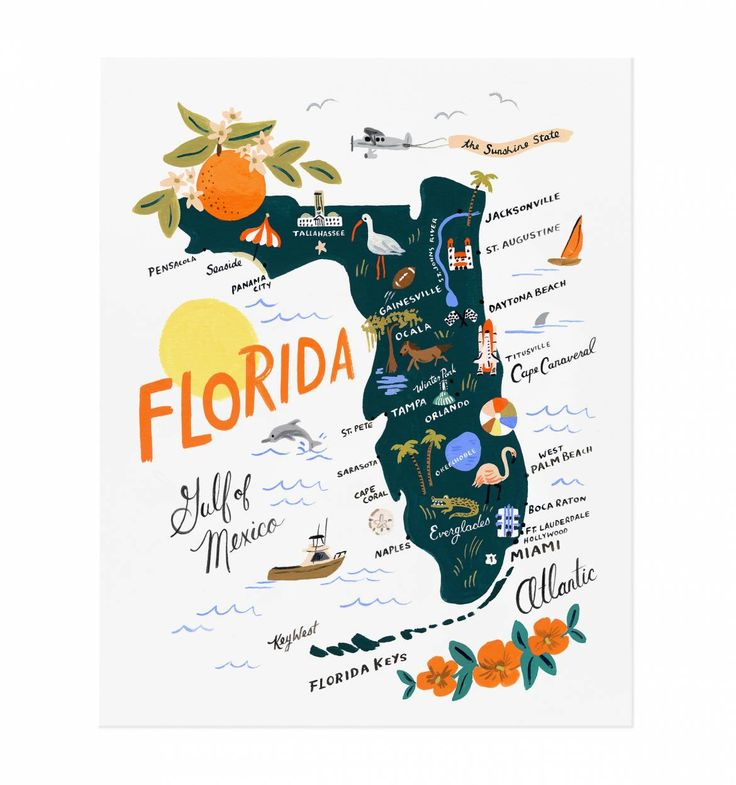 Florida Illustrated Art Print | Rifle Paper