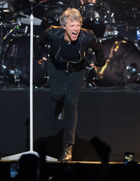 Singer-songwriter Jon Bon Jovi performs during Bon Jovi 'This House Is Not for Sale' tour at Wells Fargo Center on March 31, 2017 in Philadelphia, Pennsylvania.