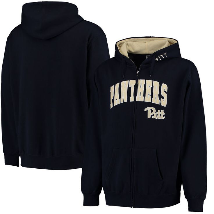 Pitt Panthers Stadium Athletic Arch & Logo Full Zip Hoodie - Navy