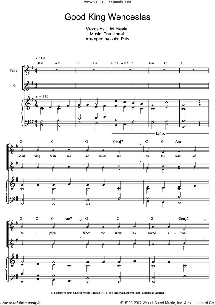 Neale good king wenceslas sheet music for recorder solo