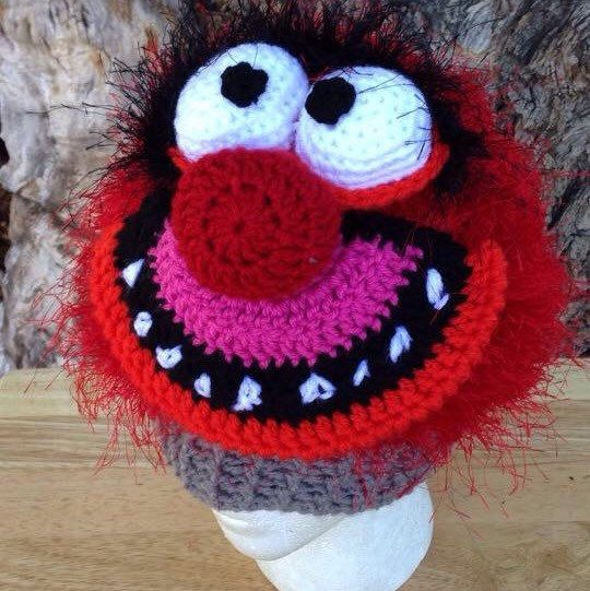 Everybody's favorite drummer can be found in my etsy shop as an original hat, pattern designer by me! I can make animal in any size and beanie or earflap and rope ties special! NB-adult man so order away!