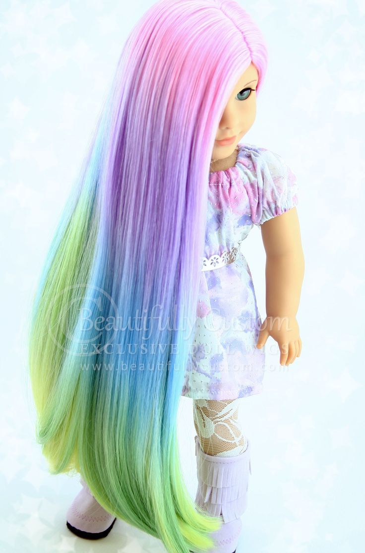 Pretty Pastel Deluxe Luxury Doll Wig for Custom American Girl Dolls Size 10-11: Beautifully Custom Exclusive