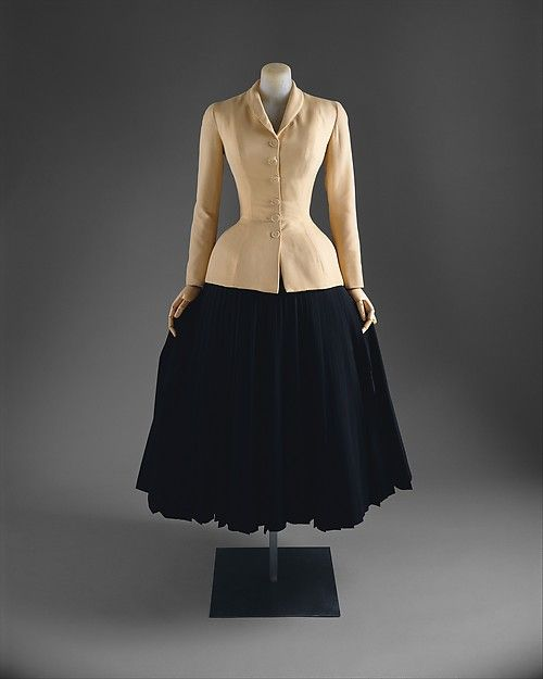 """Bar Suit"" Dior http://www.metmuseum.org/collection/the-collection-online/search/81460"