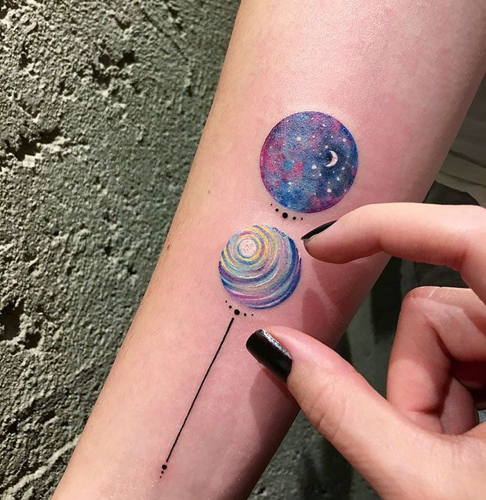 Miniature Circle Tattoos By Turkish Artist Eva Krbdk | Bored Panda