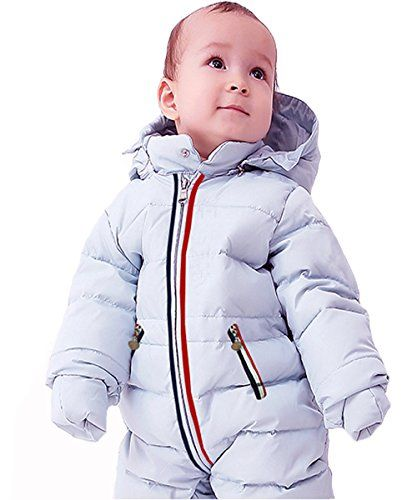d476d17fd21b GIRL MELODY Unisex Baby Romper White Duck Down Onesies Baby Winter Coat for  532 Months BabyXLargeGrey Blue   Check out the image by visiting the link.
