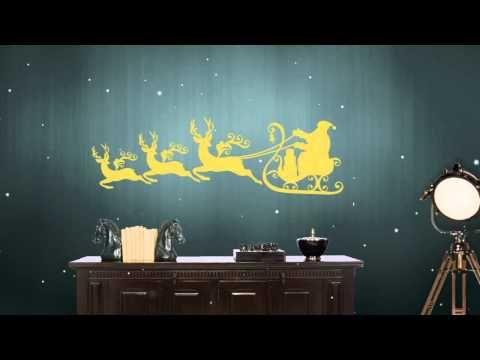 Χριστουγεννιάτικα αυτοκόλλητα τοίχου