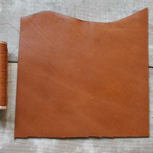 cuir de veau  CAMEL format A5