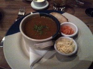 Delicious soup from La Garrigue :-)