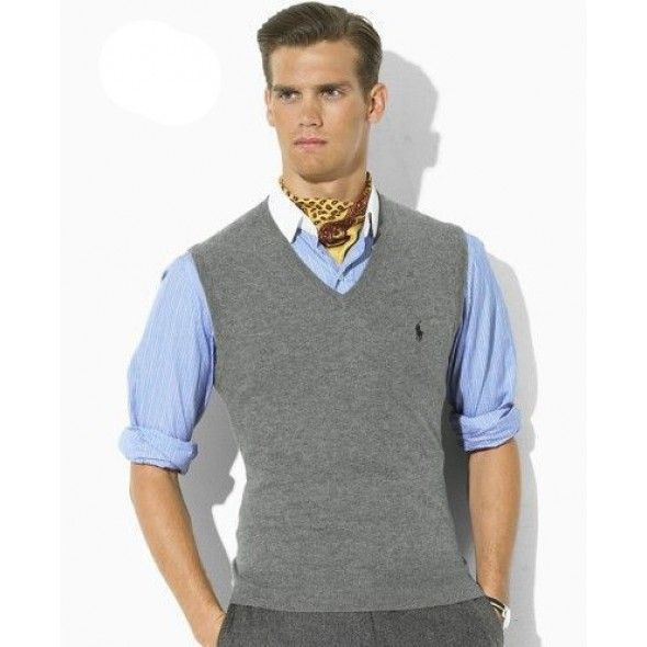 Ralph Lauren Mesh Sleeveless Men Sweaters Grey [rl 797] - �28.30 : Ralph �  Sweater VestsV Neck ...