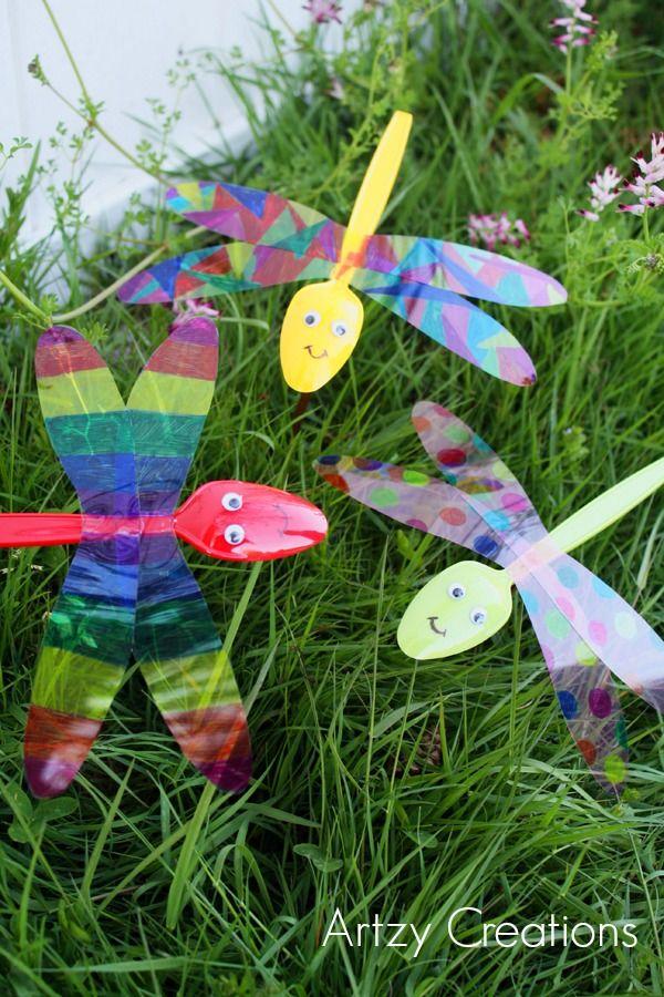 Animal Crafts for Kids #KidsCraft by Melanie for Garden Draginflies