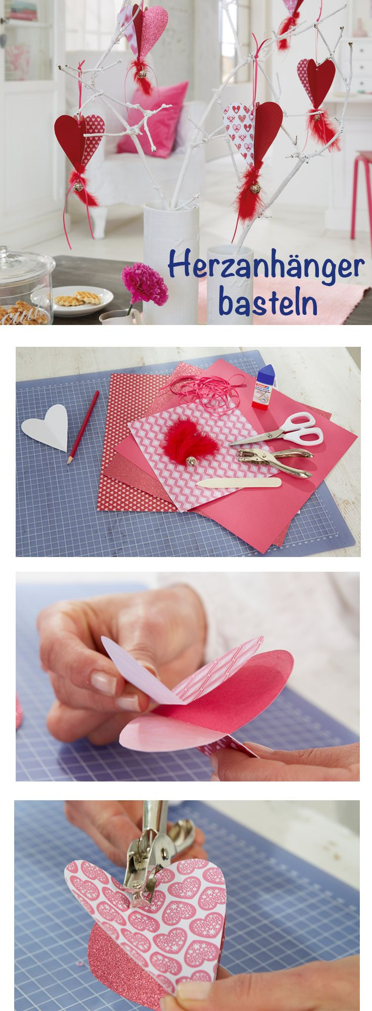 Valentinstag Herz Basteln