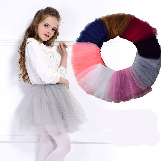 Tutu meninas Super Fofo 6 Camadas saia Princesa Ballet Dança Tutu Skirt Crianças Bolo Saia Crianças Roupas para 3-10Ys