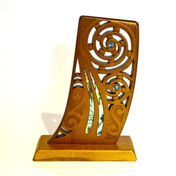 New Zealand Rimu Waka Stern Post Carving - http://www.silverfernz.com/1400-rimu-waka-stern-post-carving.htm