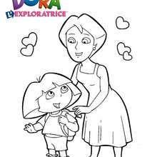 Coloriage de Dora et sa Maman - Coloriage - Coloriage DORA - Coloriages DORA