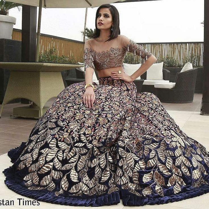 Crushing on this @manishmalhotra05 #velvet #lehenga | pinterest ~ queeening ✨