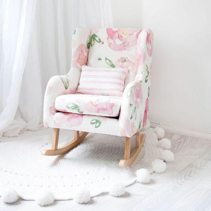 Make little dreams come true with the perfect addition to any little girls room!  Hobbe's Petite Rocker in Peony Print with Pink Double Stripe Cushion   _ #hobbe #rocker #rockingchair #nursery #nurseryinspo #littlegirlsroom #dreamscometrue #prettyinpink #baby #babygear #babyvillage #babyvillagestore #repost  @hobbeaustralia | @gcmacmillan