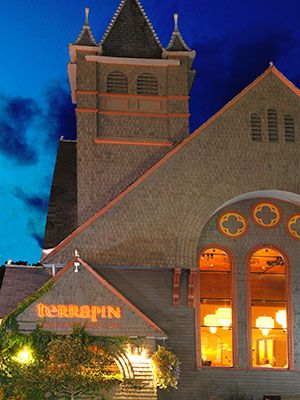 Terrapin Red Bistro: Bypass the formal dining room in favor of the laid-back bar area at this converted 1825 church.