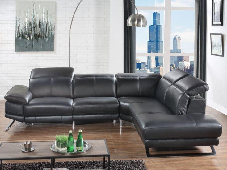 Canapé angle cuir relax électrique PUNO noir angle droit - Vente Unique. Elegant et conforable, ce canapé est idéal pour partager des moments conviviaux avec vos amis ou vous détendre en toute sérénité.
