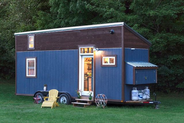 """A 200 sq ft tiny house in Burlington, Vermont, named """"Little Lou""""."""