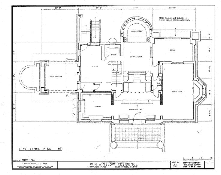 top best site for house plans. house plans with few hallways  Winslow House River Forest Illinois Wikis 77 best HOUSE PLANS images on Pinterest Floor floor