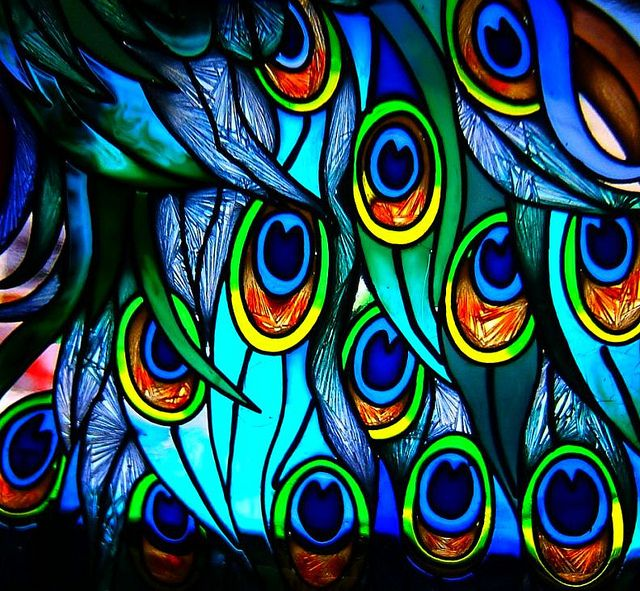 Peacock #Stained-glass #vitraux