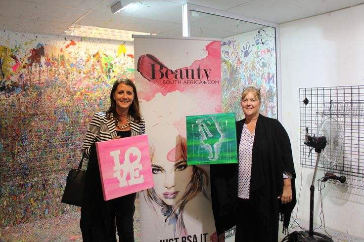 Gorgeous paintings from two gorgeous ladies! — at Art Jamming, V&A Waterfront. #beautysouthafrica #aussieexpression