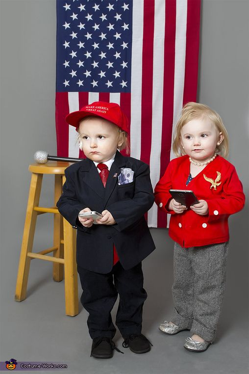 Trump and Hillary Costume