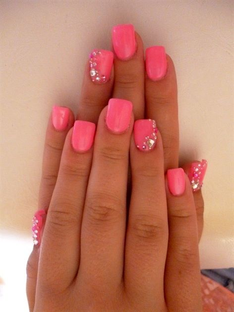 Pink with sparkle