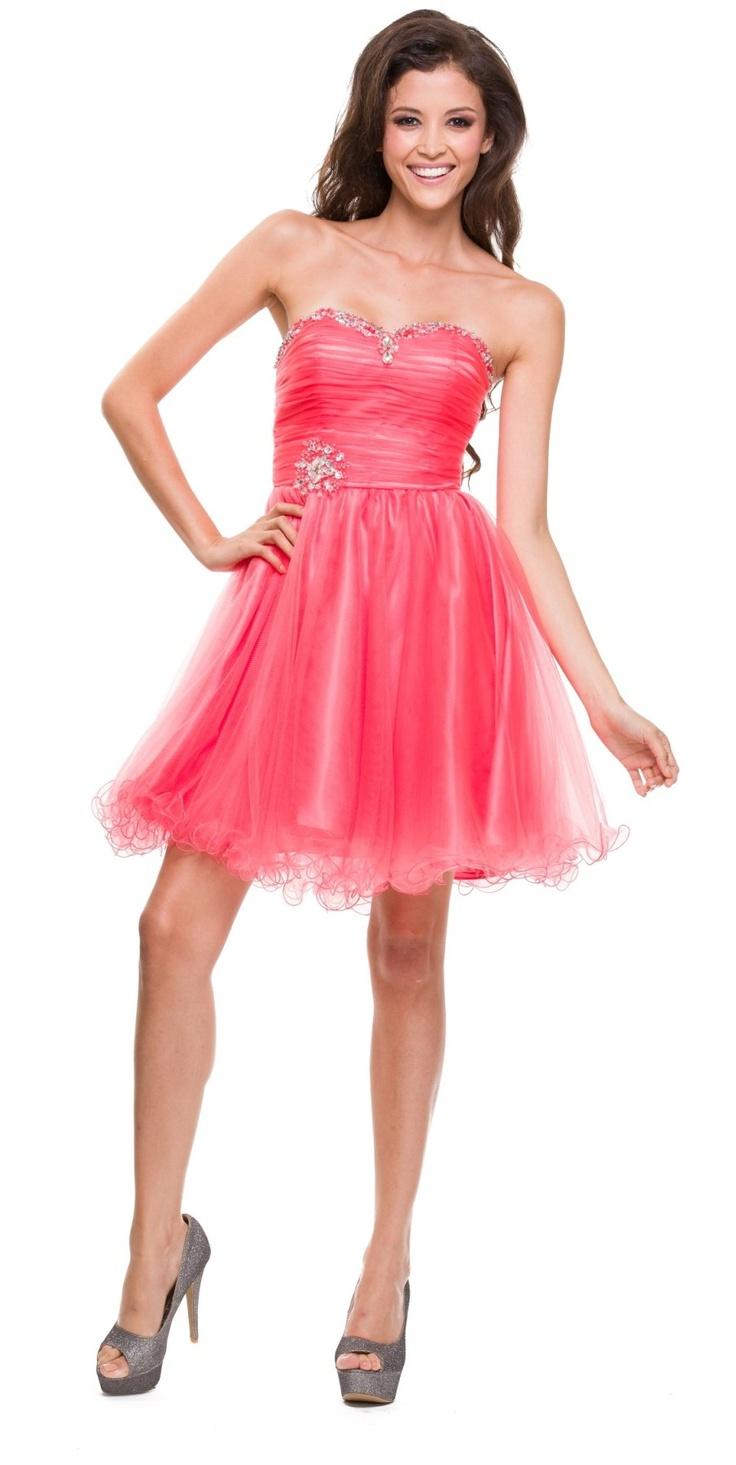 Mejores +100 imágenes de Coral Dresses en Pinterest | Vestido de ...
