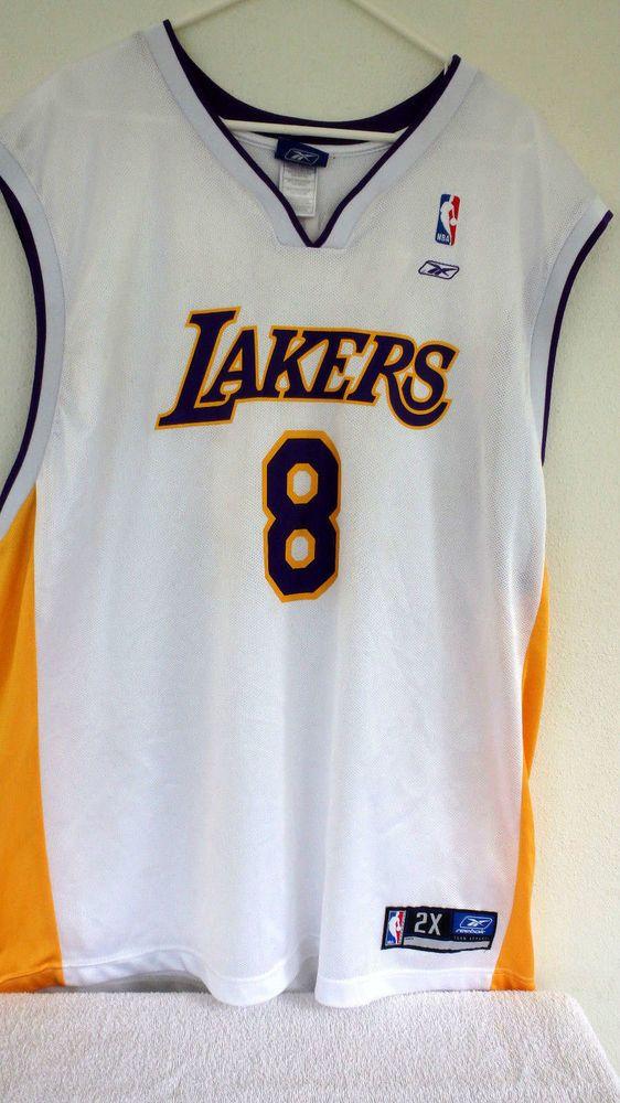 6fe7acee6b4 ... Kobe bryant los angeles lakers jersey 8 reebok nba authentics 2xl rare  euc ...