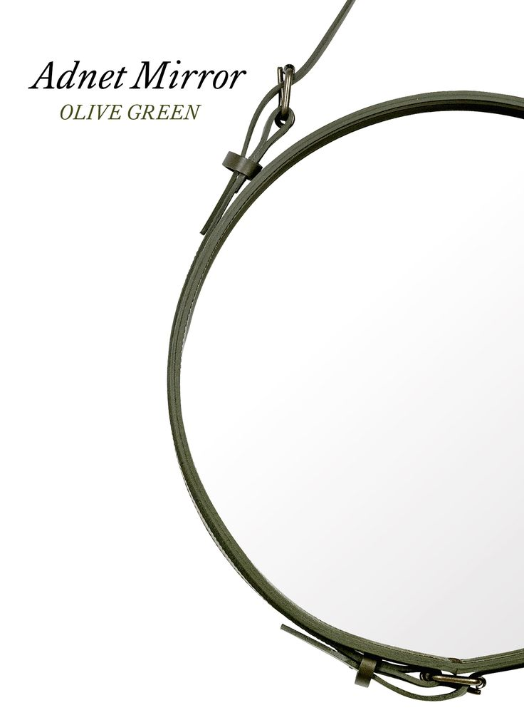 GUBI // Adnet Circulaire mirror - olive green
