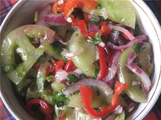 Салат из зеленых помидор по-грузински