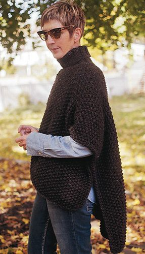 Blanket Poncho PDF Knitting Pattern