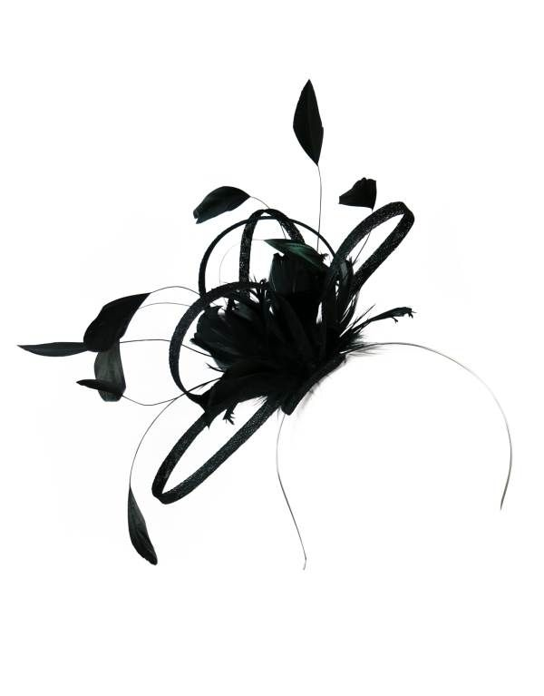 Morgan and Taylor Andrea Black Feather Fascinator