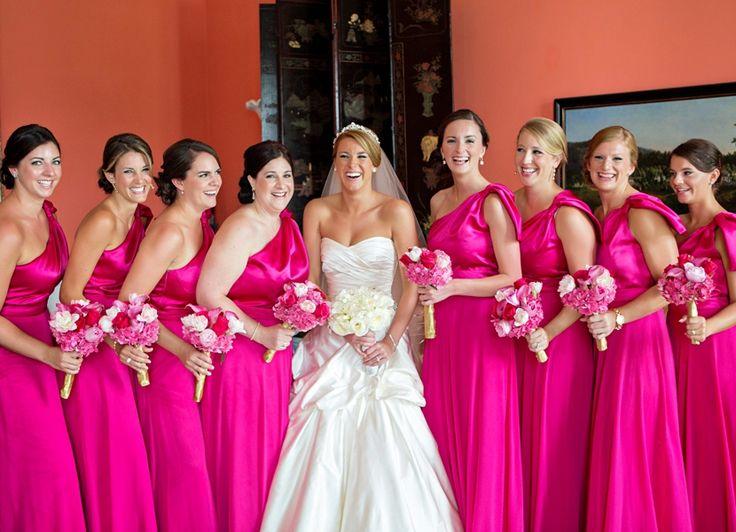 Cheap Wedding Gowns Toronto: Best 25+ Fuschia Bridesmaid Dresses Ideas On Pinterest