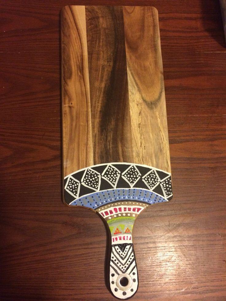 Geometric design chopping board