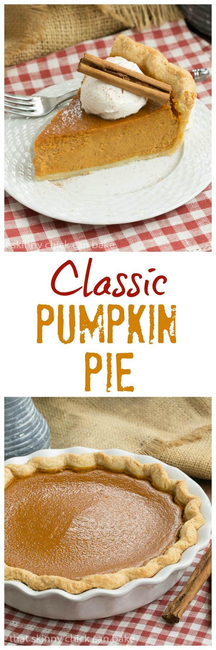 Classic Pumpkin PIe | Libby's recipe on steroids! 3 simple tweaks for the best #thanksgiving pie! #pumpkinpie #desserts