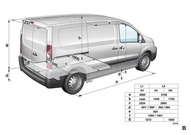 резултат слика за Fiat Scudo Dimensions Car Camping Van Camper Van